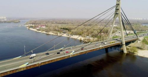 Aerial View of a City Traffic on the North Bridge - SRDY3NV