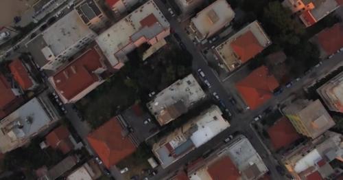 Aerial View of Houses, Seaside and Quay in Nea Kallikratia, Greece - VNZWY2V