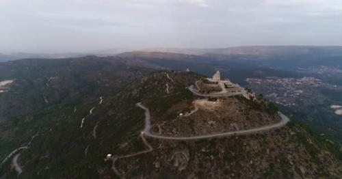 Beautiful Cathedral on Top of Great Mountain - 2A65WZP