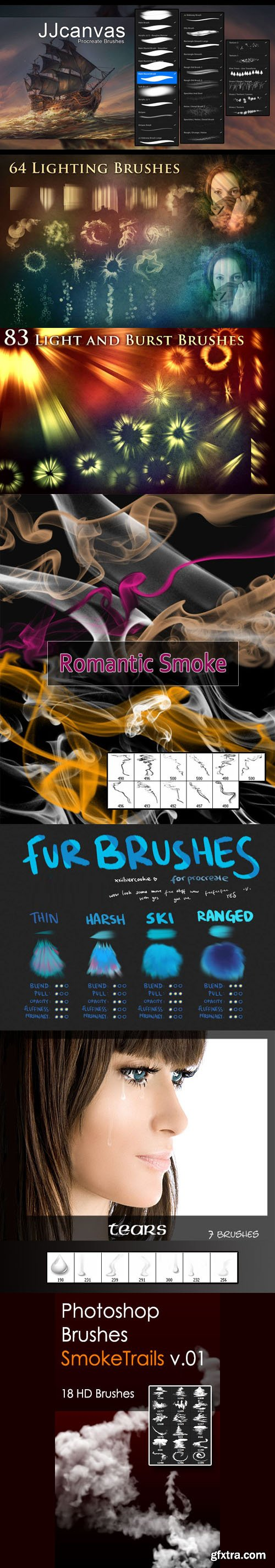 Miscellaneous Photoshop & Procreate Brushes Collection