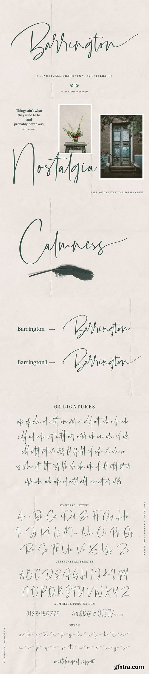 Barrington - A Luxury Calligraphy Font