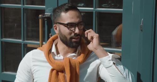 Businessman Smartphone Talk - 9AQ4BMS