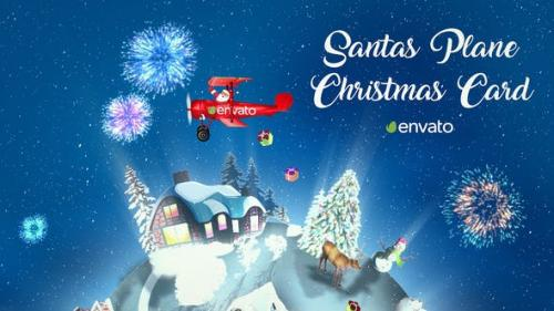 Udemy - Santas Plane Christmas Card | After Effects Template