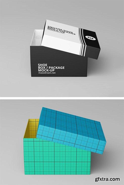 Shoe Box Mockup Psd