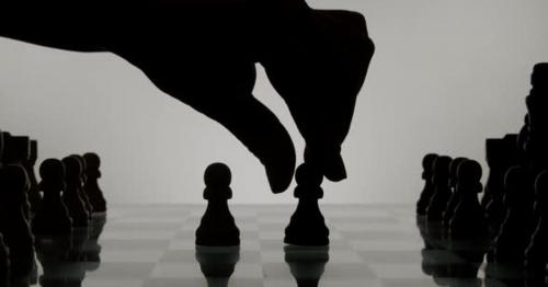Hand And Chess Silhouette 55 - WJN6QFD