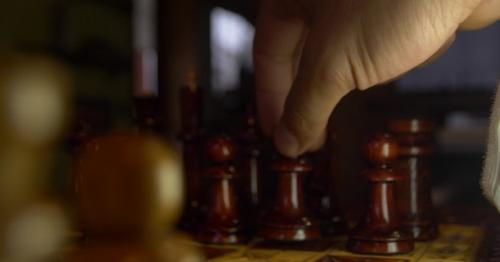 Hand Take the Pawn and Make Step - J7W5FNY