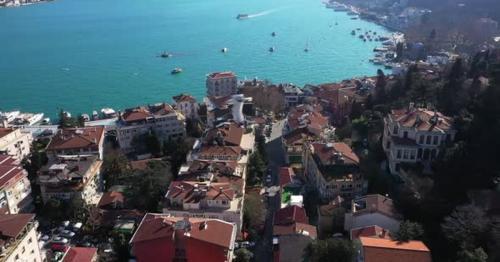 Istanbul Bebek Bosphorus Aerial View 15 - PJF5QDS