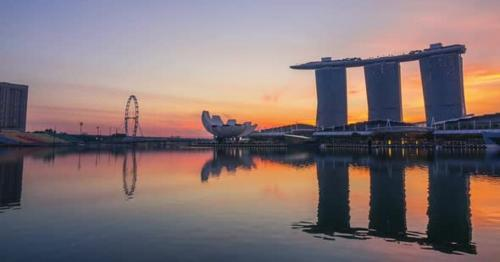 Morning in Marina Bay and Mist - ABYXS9P