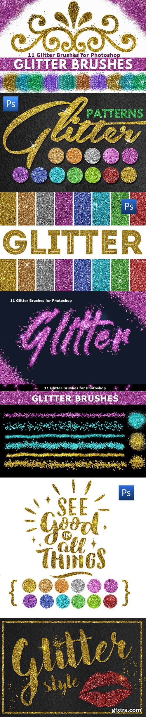 Seamless Glitter - Photoshop Brushes & Patterns Collection