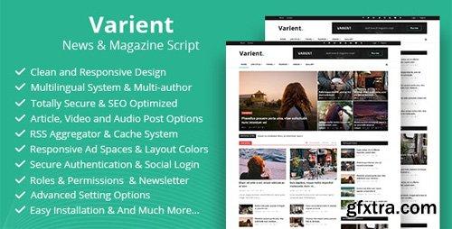 CodeCanyon - Varient v1.6 - News & Magazine Script - 21035226 - NULLED
