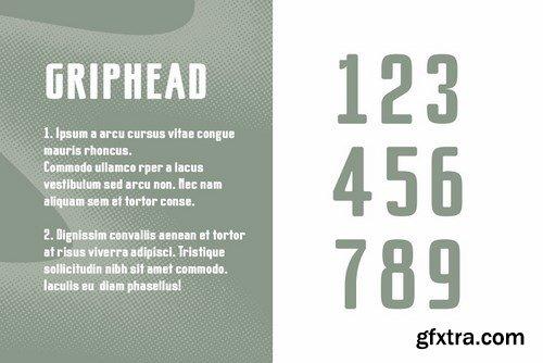 CM - Griphead Modern Condensed Font 4208934