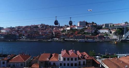 Porto Portugal View From Cable Car, Portugal - 5PRHC4E