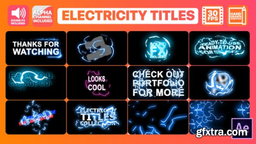 VideoHive Electricity Titles Collection After Effects 24834270