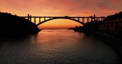 River and Bridge at Sunset - LGBVPWU