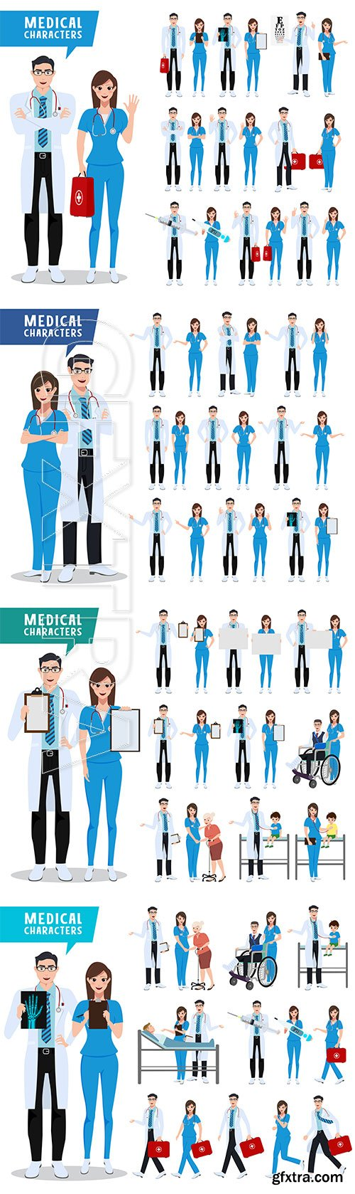 Medical characters vector illustration