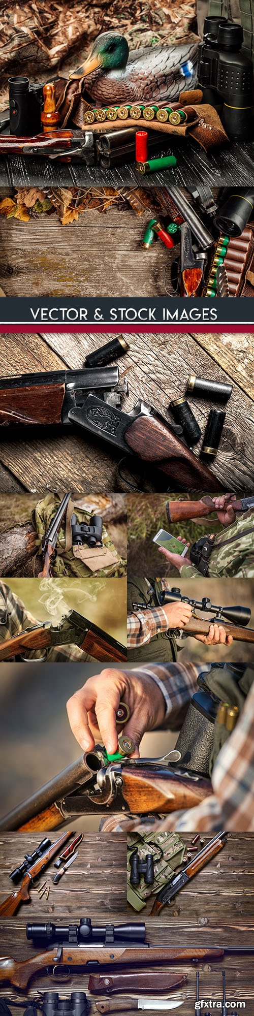 Hunting autumn nature weapons and ammunition