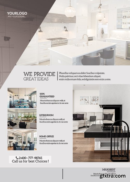 Real Estate Flyer - Premium flyer psd template
