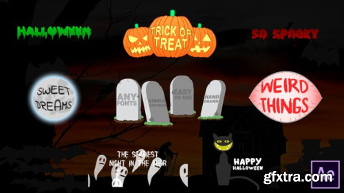 VideoHive Halloween Titles | After Effects 24866325