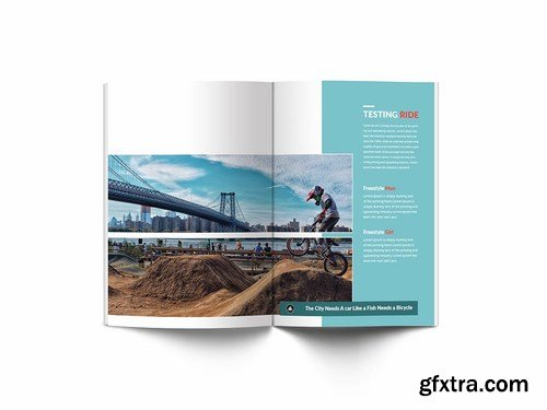 Bicycle A4 Brochure Template