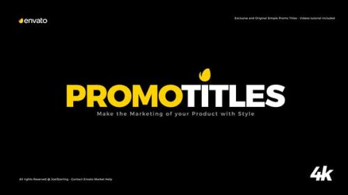 Udemy - Simple Promo Titles Package