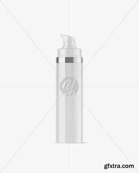 Glossy Bottle with Pump Mockup 50261