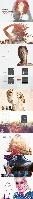 CreativeMarket - Double exposure - Photoshop Action 4136596