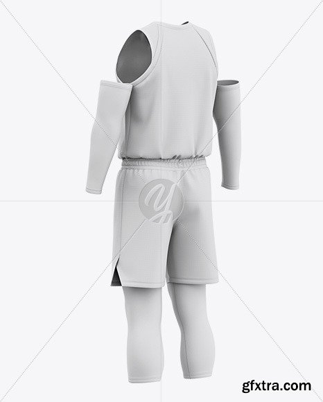 Men's Basketball Kit Mockup - Back Half Side 50249