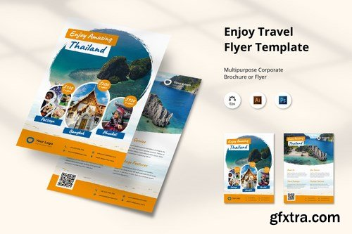 Enjoy Traveling Flyer Template