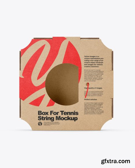 Box For Tennis String Mockup 50323