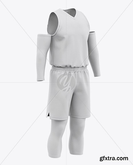 Men's Basketball Kit Mockup - Front Half Side 50251