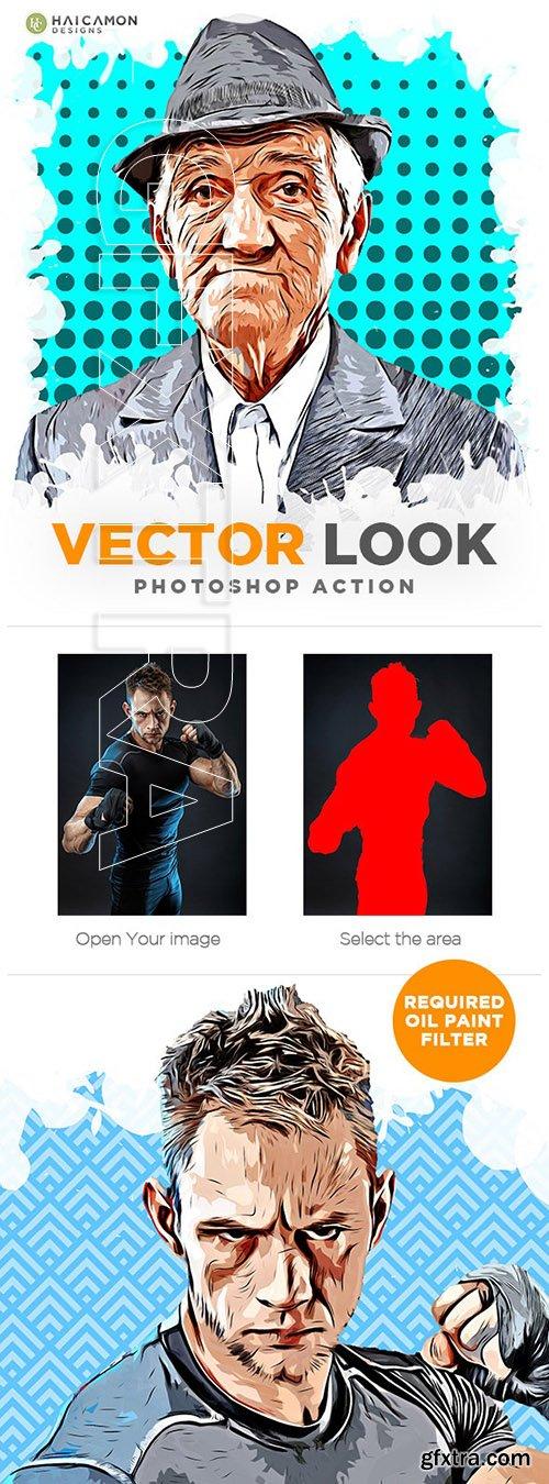 GraphicRiver - Vector Look Photoshop Action 24612746