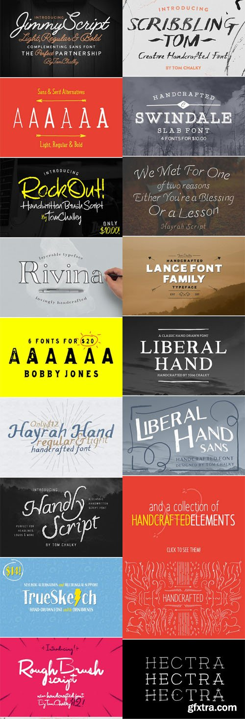 CM - Mega Font Bundle! - 44 Fonts for $36! (Re-Up)