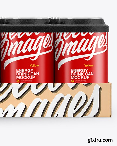 Pack with 24 Matte Cans Mockup 50405