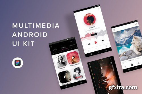 Multimedia Android UI Kit (Figma)