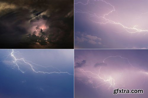 8K UltraHD Lightnings Background Wallpaper Set