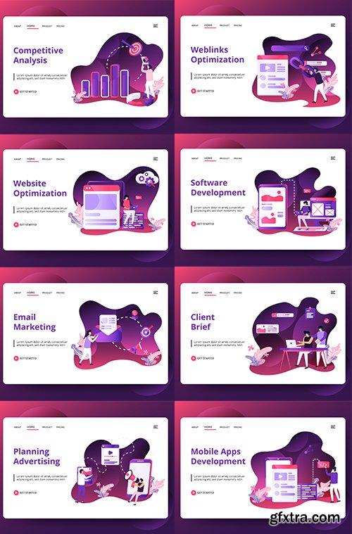 Media Advertising sets Illustration vol 2