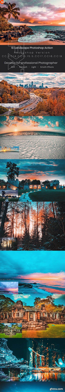 GraphicRiver - 10 Landscape Photoshop Action 24688104