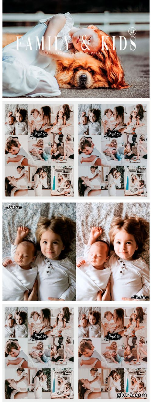 10 Family & Kids Photoshop Actions, ACR 1876389