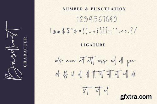 CM - Baselliost handwritten Script font 4230893