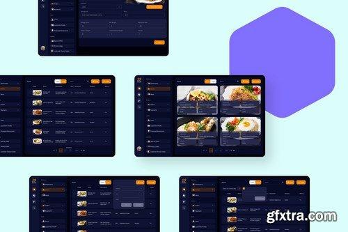 Foodie Food Admin Web Design Elements Bundle