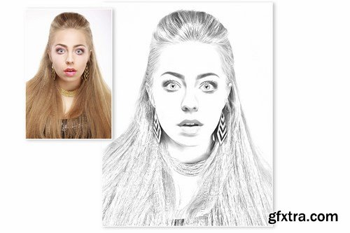 GraphicRiver - Pencil Drawing Effect for Photoshop 11658178