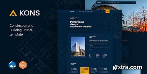 ThemeForest - Kons v1.1 - Construction and Building Drupal 8 Theme - 23356583