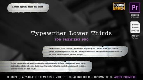 Udemy - Typewriter Lower Thirds | MOGRT for Premiere Pr