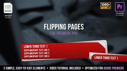 Udemy - Flipping Pages Lower Thirds | MOGRT for Premiere Pro