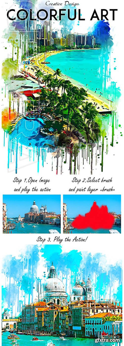 GraphicRiver - Colorful Art Photoshop Action 24802241