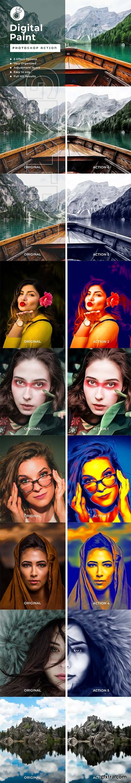 CreativeMarket - Digital Paint PhotoshopAction 4107718