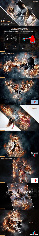 CreativeMarket - The Phoenix - Fire Explosion 4108857
