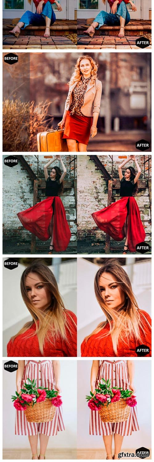 Red Blogger Photoshop Actions and ACR 1909520
