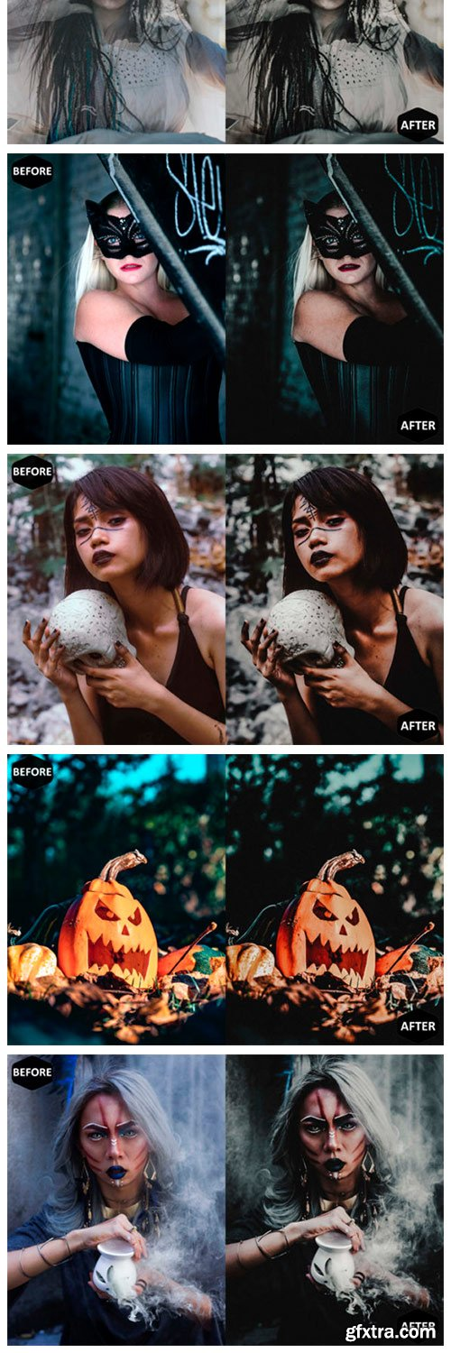 Halloween Photoshop Actions and ACR 1909512