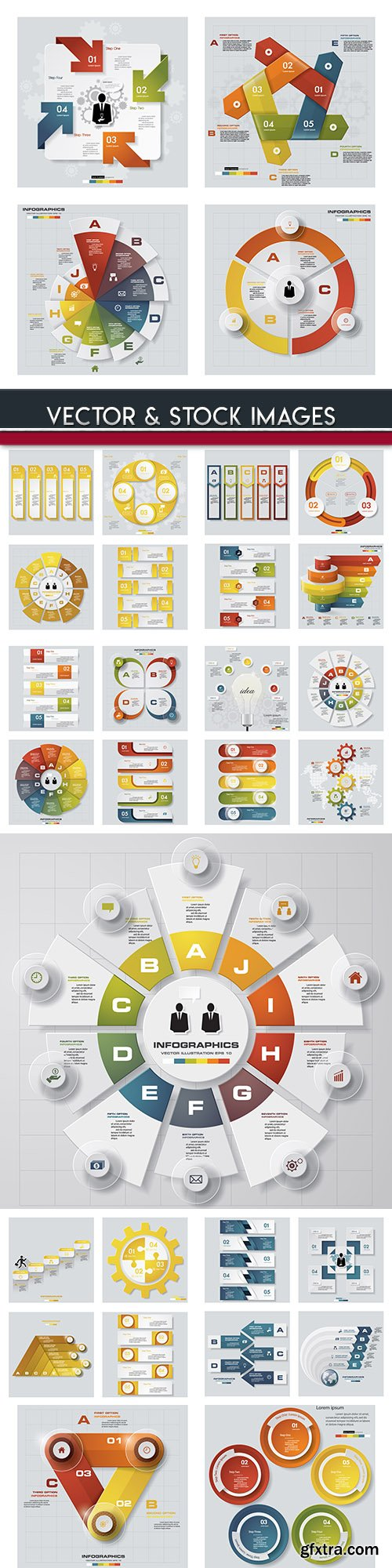 Business infographics options elements collection 104